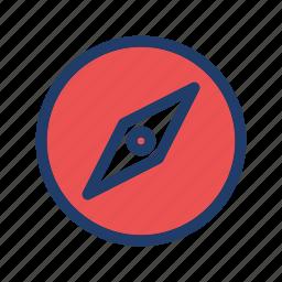 compass, geometry, gps, location icon