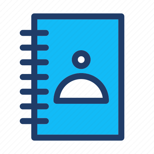 book, contact, contacts icon