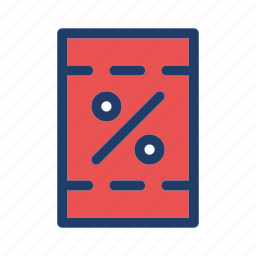 coupon, discount, percent icon