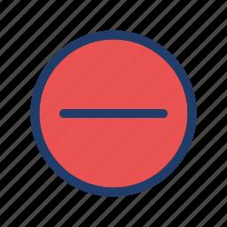 close, delete, minus, remove icon