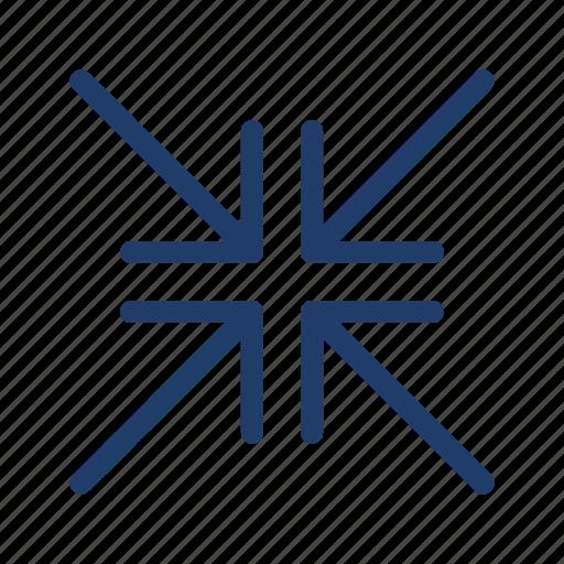 arrows, fullscreen, minimise, minimize icon