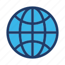 global, globe, internet, seo icon