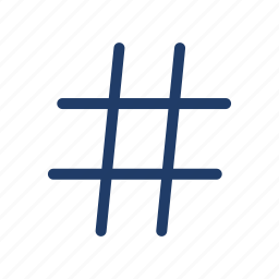 hashtag, hex, sign icon