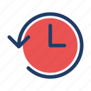 expired, history, schedule, timer icon