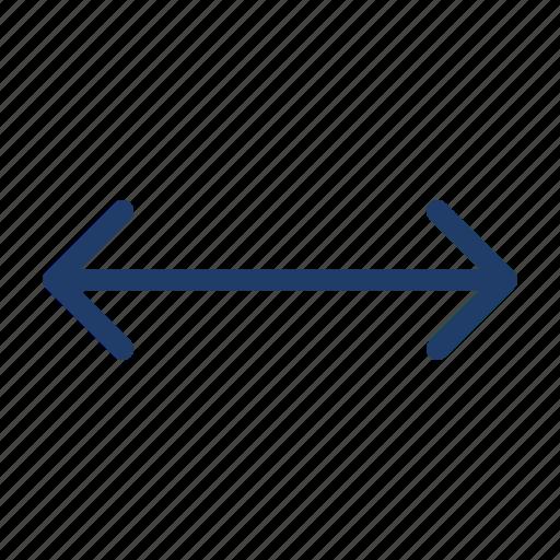 arrow, distance, left, move, right icon