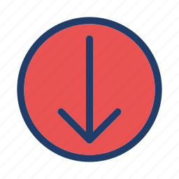 arrow, direction, down, move icon