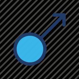 arrow, male, sex, sign icon