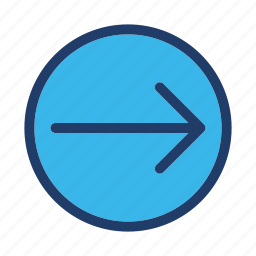 arrow, direction, move, right icon