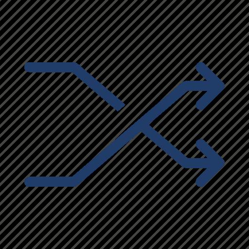 arrows, direction, random icon
