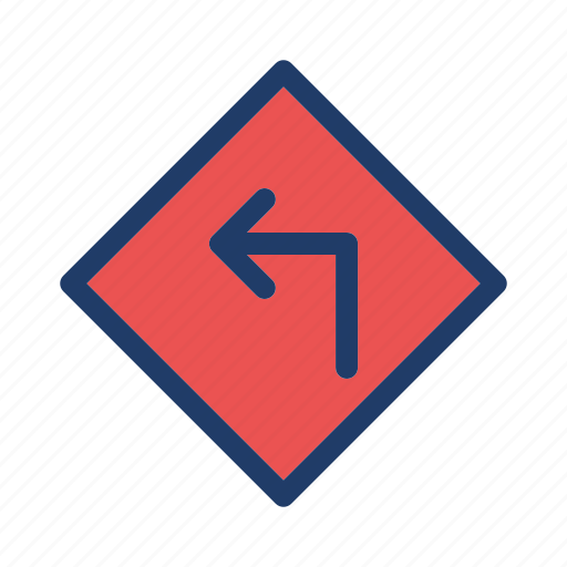 direction, left, road, sign icon