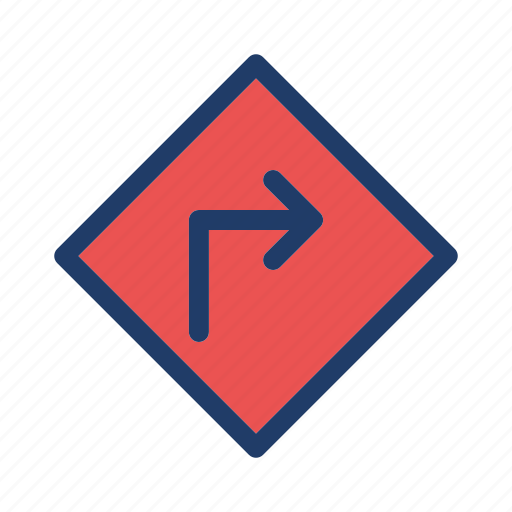 direction, right, road, sign icon