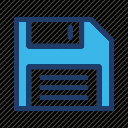 Deskette, floppy, save, disk, storage, guardar icon - Download on Iconfinder