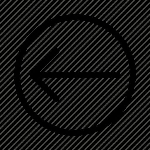 arrow, direction, left, move icon