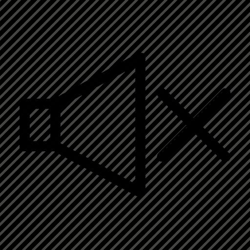 mute, off, silent, volume icon