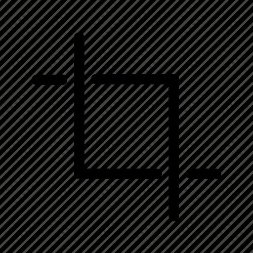 crop, cut, edit, reduce icon