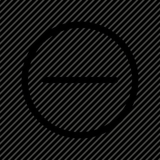 cancel, delete, minus, remove, stop icon