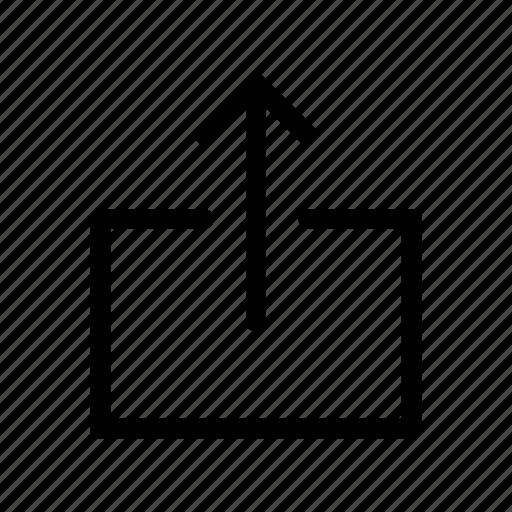 arrow, export, storage, up, upload icon