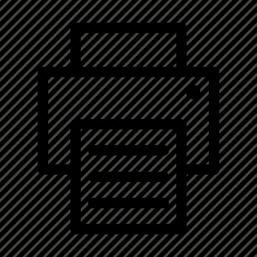 copier, document, paper, print, printer icon