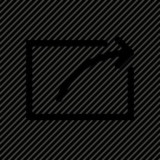 arrow, export, file, share, social icon