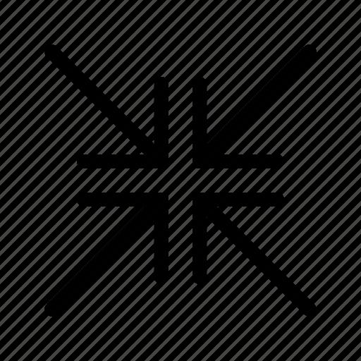 arrows, fullscreen, minimise, resize icon