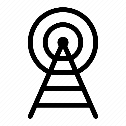 broadcast, connection, radio, signal, technology, wifi icon