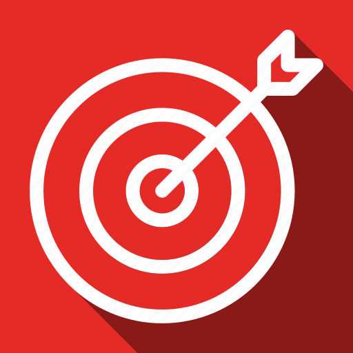 aim, goal, long shadow, marketing, seo, target icon