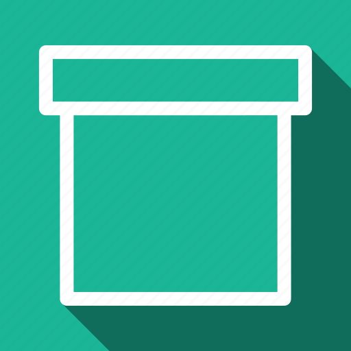 archive, box, long shadow icon