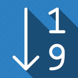 arrange, long shadow, order icon