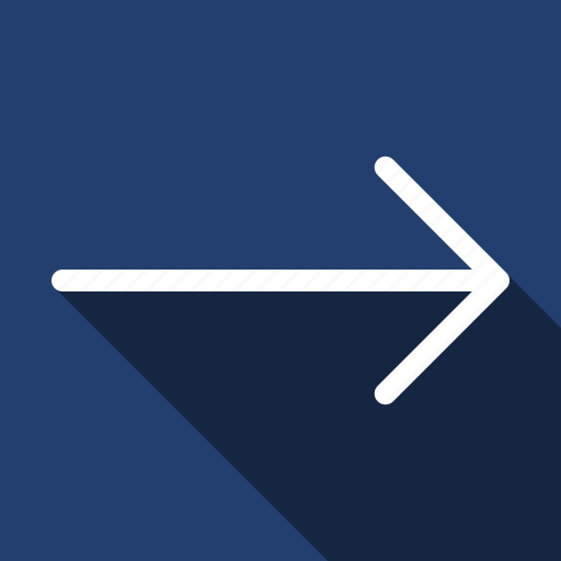 Arrow, right, long shadow icon - Download on Iconfinder