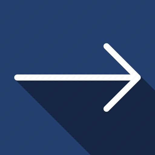 arrow, long shadow, right icon