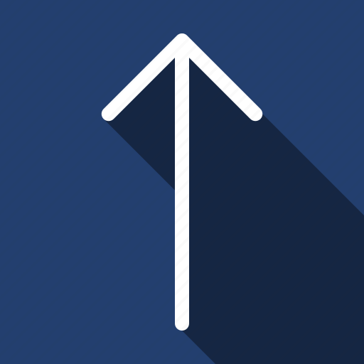 Arrow, top, long shadow icon - Download on Iconfinder