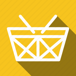 basket, buy, checkout, long shadow icon