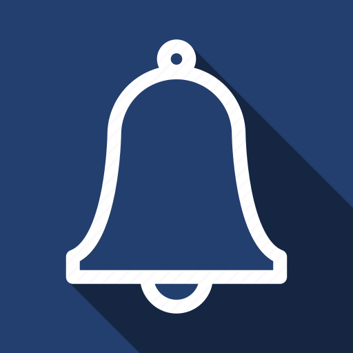 alarm, alert, bell, long shadow icon