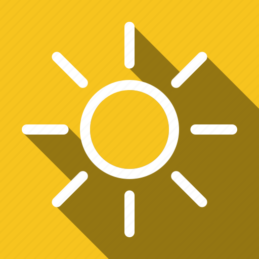 brightness, long shadow icon