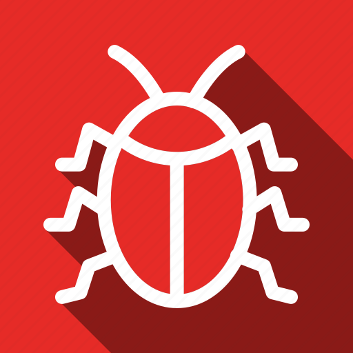 Bug, insect, long shadow icon - Download on Iconfinder
