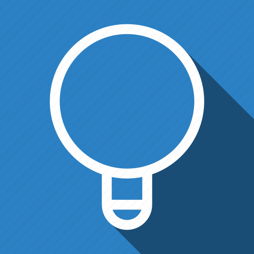 bulb, idea, long shadow icon