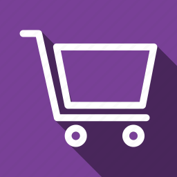 buy, cart, checkout, long shadow, shop icon