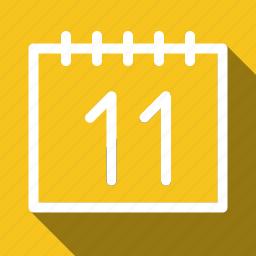 calendar, long shadow icon