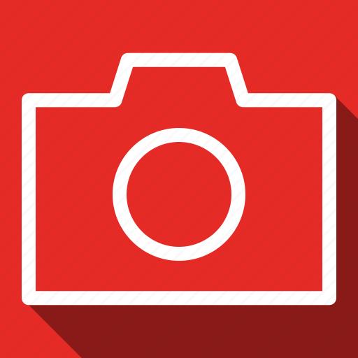 camera, long shadow icon