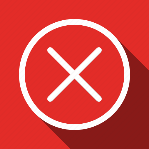 Cancel, close, delete, exit, recycle, remove, long shadow icon - Download on Iconfinder