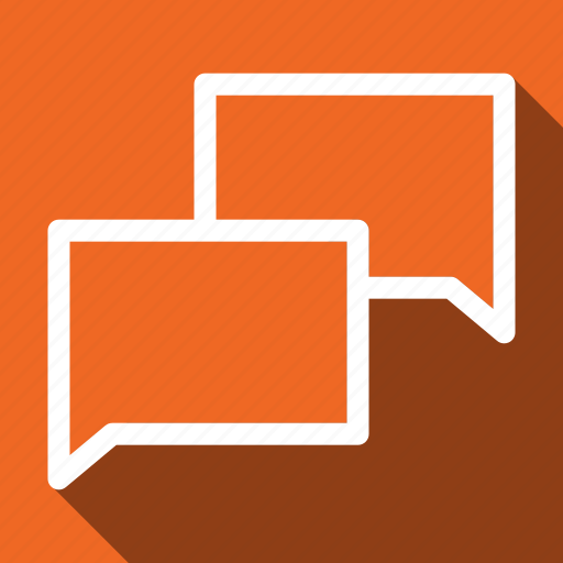 Chat, bubble, communication, message, long shadow icon - Download on Iconfinder