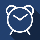 clock, long shadow, timer, watch icon
