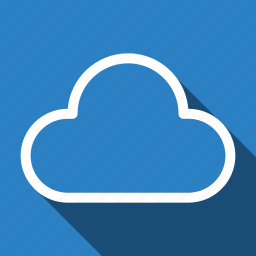 cloud, cloudy, long shadow, storage, weather icon