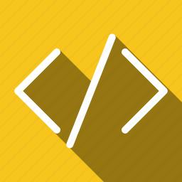 code, coding, development, javascript, long shadow, programming, seo icon