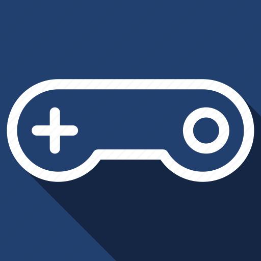 control, controller, game, joystick, long shadow icon