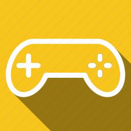 control, controller, game, gamer, joystick, long shadow icon