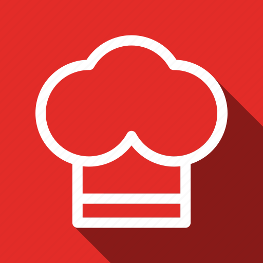 Chef, cook, cooking, kitchen, restaurant, long shadow icon - Download on Iconfinder