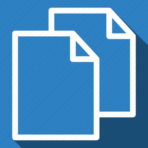 copy, duplicate, long shadow, paste icon