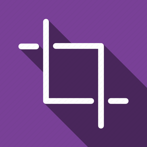 Crop, cut, reduce, edit, long shadow icon - Download on Iconfinder