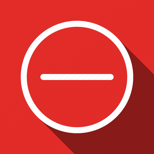 Delete, minus, remove, cancel, sign, stop, long shadow icon - Download on Iconfinder